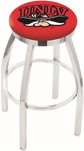Univ Nevada Las Vegas Flat Ring Chrome Bar Stool