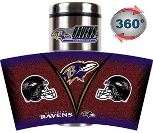 NFL Baltimore Ravens Tumbler (Logo & Team Name)