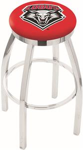 Univ of New Mexico Flat Ring Chrome Bar Stool