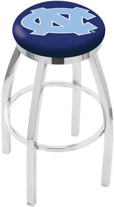 Univ of North Carolina Flat Ring Chrome Bar Stool
