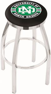 Univ of North Dakota Flat Ring Chrome Bar Stool