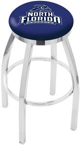 Univ of North Florida Flat Ring Chrome Bar Stool
