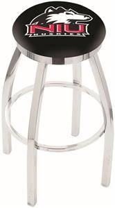 Univ Northern Illinois Flat Ring Chrome Bar Stool