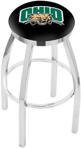 Ohio University Flat Ring Chrome Bar Stool