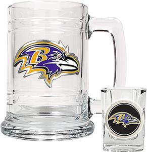 NFL Baltimore Ravens Boilermaker Gift Set