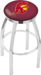 Southern California Flat Ring Chrome Bar Stool