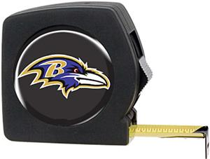 NFL Baltimore Ravens 25' Tape Measure with Logo