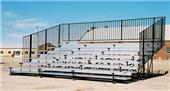 Outdoor Bleachers 8 ROW Non-Elevated No Aisles
