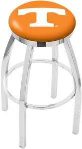 University of Tennessee Flat Ring Chrome Bar Stool