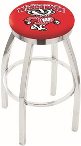 Univ Wisconsin Badger Flat Ring Chrome Bar Stool