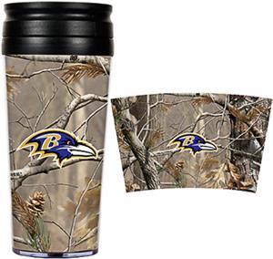 NFL Baltimore Ravens 16oz Realtree Travel Tumbler