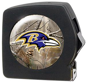 NFL Baltimore Ravens 25' RealTree Tape Measure