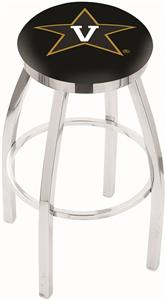 Vanderbilt University Flat Ring Chrome Bar Stool