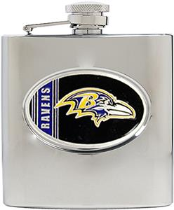 NFL Baltimore Ravens 6oz Stainless Steel Flask