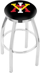 Virginia Military Inst Flat Ring Chrome Bar Stool