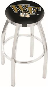 Wake Forest University Flat Ring Chrome Bar Stool