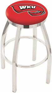 Western Kentucky Univ Flat Ring Chrome Bar Stool