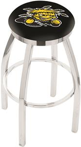 Wichita State Univ Flat Ring Chrome Bar Stool