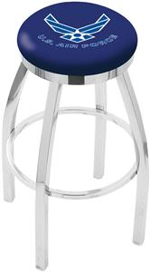 United States Air Force Flat Ring Chrome Bar Stool