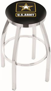 United States Army Flat Ring Chrome Bar Stool