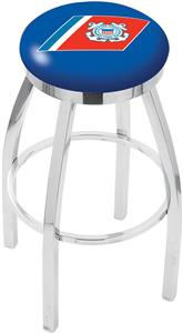 US Coast Guard Flat Ring Chrome Bar Stool