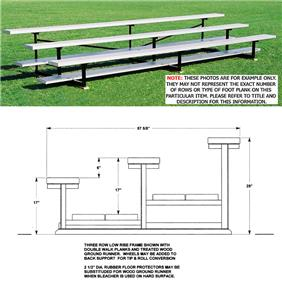 Outdoor Bleachers 3 ROW No-Elev Low Rise No Aisle