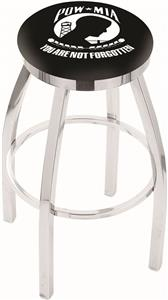 Holland POW/MIA Flat Ring Chrome Bar Stool