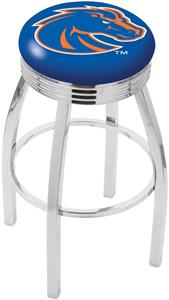 Boise State University Ribbed Ring Bar Stool