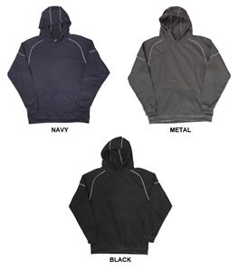 J America Polyester Mesh Hooded Sweatshirt