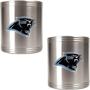 NFL Carolina Panthers Stainless Steel Can Holders
