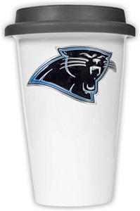 NFL Carolina Panthers Ceramic Cup with Black Lid
