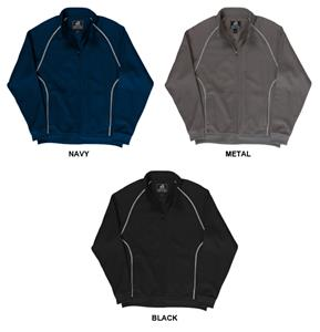 J America Polyester Mesh Full Zip Track Jacket
