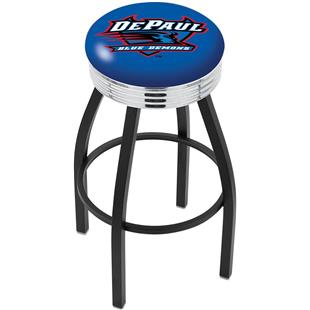 DePaul University Ribbed Ring Bar Stool