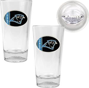 NFL Carolina Panthers 2 Piece Pint Glass Set