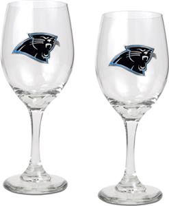 NFL Carolina Panthers 2 Piece Wine Glass Set