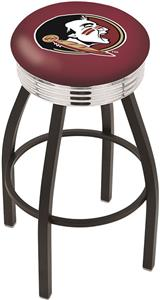 Florida State Head Ribbed Ring Bar Stool