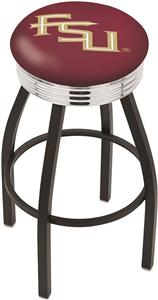 Florida State Script Ribbed Ring Bar Stool
