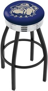 Georgetown University Ribbed Ring Bar Stool