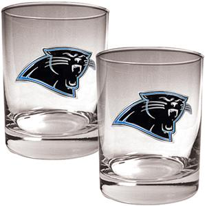 NFL Carolina Panthers 14oz 2 piece Rocks Glass Set