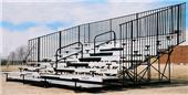 Bleachers 8 ROW Non-Elevated w/Aisles/Handrail