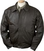 Burk's Bay Buffed Leather Bomber Jacket