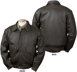 Burk&#39;s Bay Buffed Leather Bomber Jacket