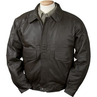 Burk's Bay Buffed Leather Bomber Jacket