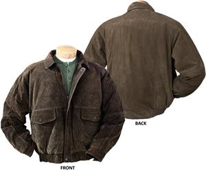 Burk&#39;s Bay Suede Leather Bomber Jacket