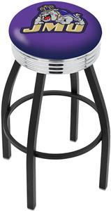 James Madison University Ribbed Ring Bar Stool