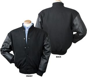 Burk&#39;s Bay Wool &amp; Leather Varsity Jacket