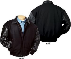 Burk&#39;s Bay Wool &amp; Premium Lamb Leather Jacket