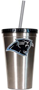 NFL Carolina Panthers 16oz Tumbler with Straw