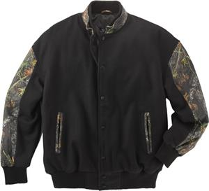 Burk's Bay Wool & Leather Mossy Oak Jacket