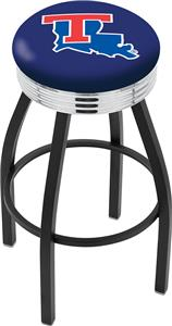 Louisiana Tech University Ribbed Ring Bar Stool